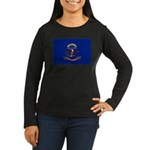 North Dakota Flag Women's Long Sleeve Dark T-Shirt