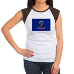 North Dakota Flag Women's Cap Sleeve T-Shirt