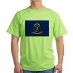 North Dakota Flag Green T-Shirt