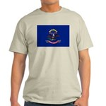 North Dakota Flag Light T-Shirt