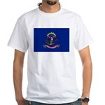 North Dakota Flag White T-Shirt
