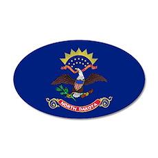 North Dakota Flag 22x14 Oval Wall Peel