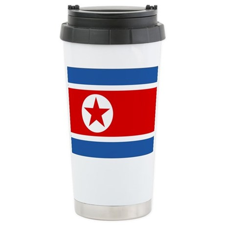 North Korea Flag Stainless Steel Travel Mug
