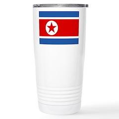 North Korea Flag Stainless Steel Travel Mug