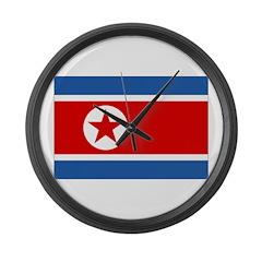 North Korea Flag Large Wall Clock