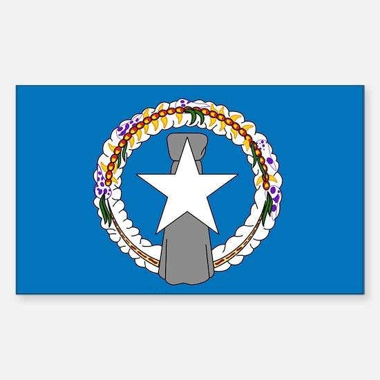 """Northern Mariana Islands Fla Sticker (Rectangle)"