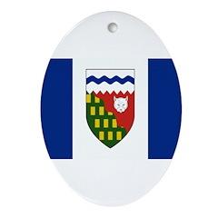 Northwest Territories Flag Ornament (Oval)