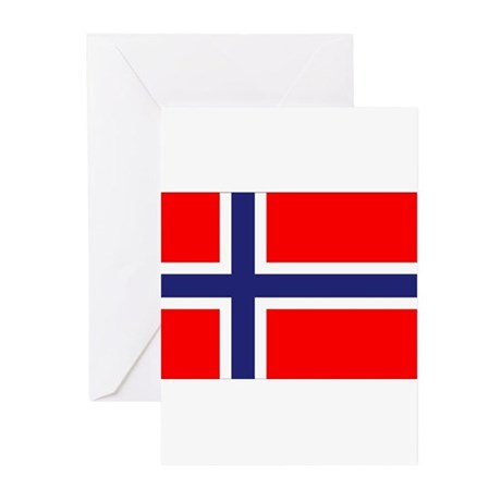 Norway Flag Greeting Cards (Pk of 20)