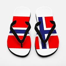 Norway Flag Flip Flops