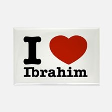 I love Ibrahim Rectangle Magnet