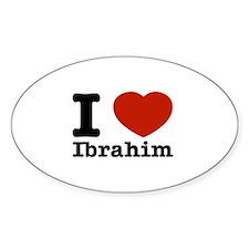 I love Ibrahim Sticker (Oval)