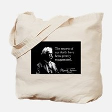 Mark Twain, My Death, Tote Bag