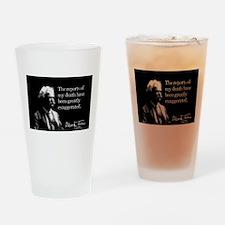 Mark Twain, My Death, Drinking Glass