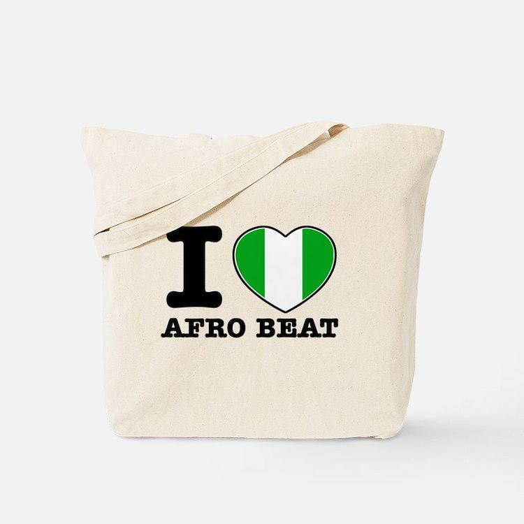 I love Afro Beat Tote Bag