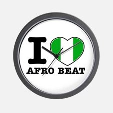 I love Afro Beat Wall Clock