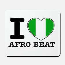 I love Afro Beat Mousepad