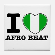 I love Afro Beat Tile Coaster