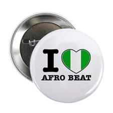 """I love Afro Beat 2.25"""" Button"""