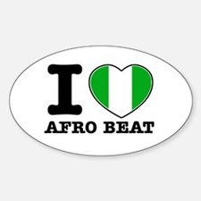 I love Afro Beat Decal