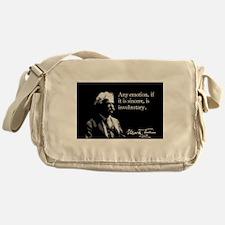 Mark Twain, Sincere Emotion, Messenger Bag