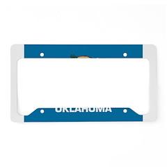 Oklahoma Flag License Plate Holder