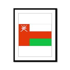 Oman Flag Framed Panel Print