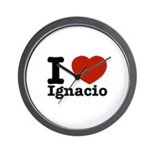 I love Ignacio Wall Clock