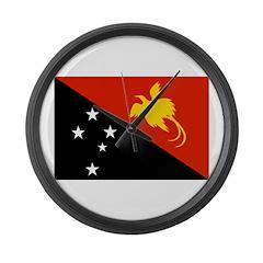 Papua new Guinea Flag Large Wall Clock