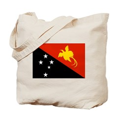 Papua new Guinea Flag Tote Bag