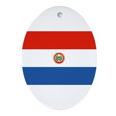 Paraguay Flag Ornament (Oval)