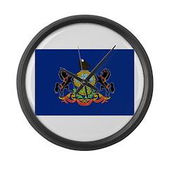 Pennsylvania Flag Large Wall Clock