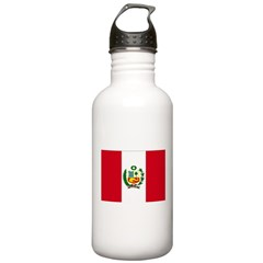 Peru Flag Water Bottle