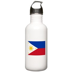 Philippines Flag Water Bottle