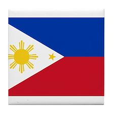 Philippines Flag Tile Coaster