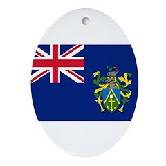 Pitcairn Islands Flag Ornament (Oval)