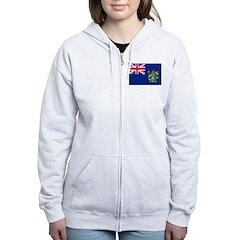 Pitcairn Islands Flag Zip Hoodie