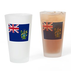 Pitcairn Islands Flag Drinking Glass
