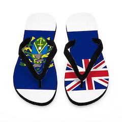 Pitcairn Islands Flag Flip Flops