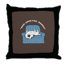 "Keeshond ""Non-Sporting Breed"" Throw Pillow"