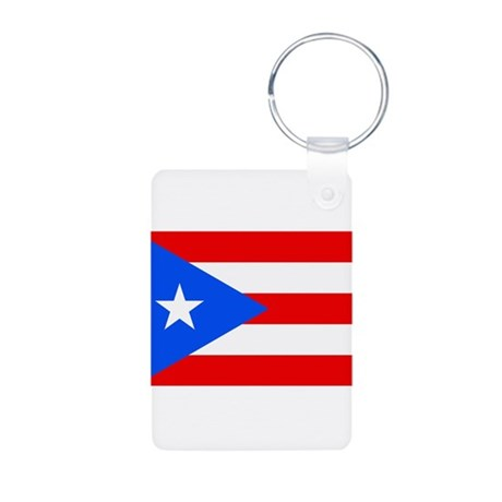 Puerto Rico Flag Aluminum Photo Keychain