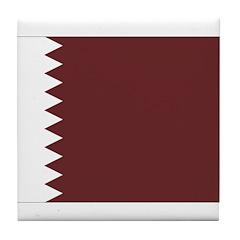 Qatar Flag Tile Coaster