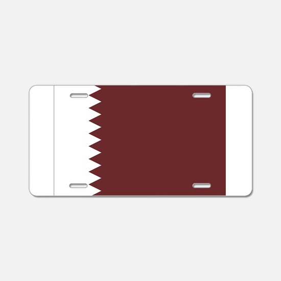 Qatar Flag Aluminum License Plate