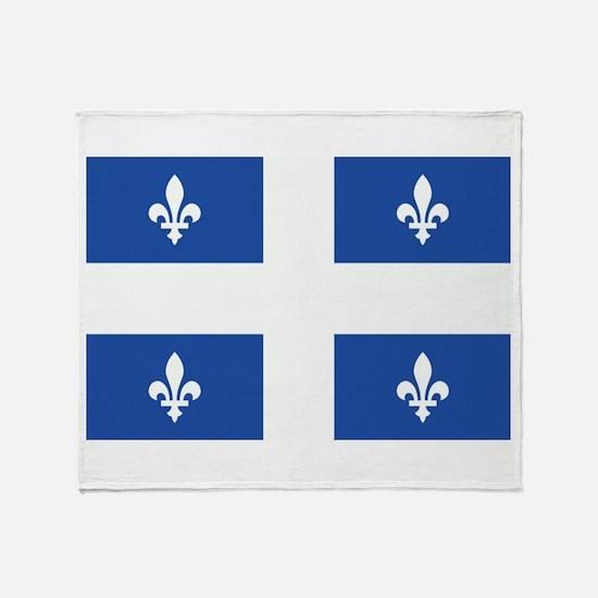 Quebec Flag Throw Blanket