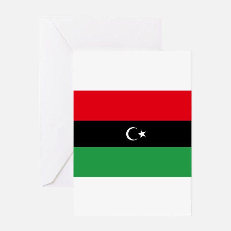 Republic of Libya Flag Greeting Card