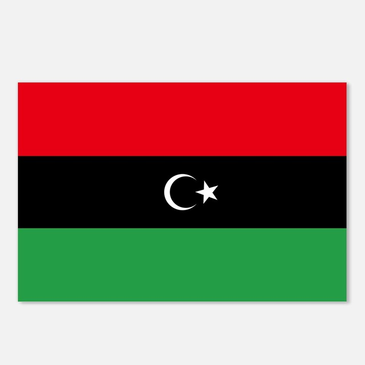 Republic of Libya Flag Postcards (Package of 8)