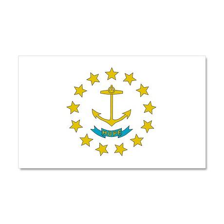Rhode Island Flag Car Magnet 20 x 12