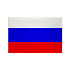 Russia Flag Rectangle Magnet (10 pack)
