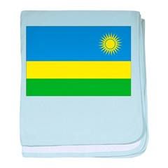 Rwanda Flag baby blanket