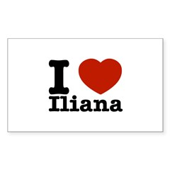 I love Iliana Decal