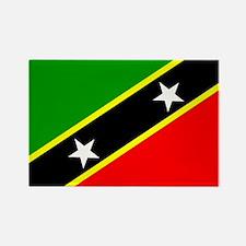 Saint Kitts Nevis Flag Rectangle Magnet